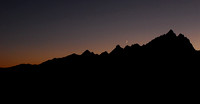 Crescent Moon over Tetons